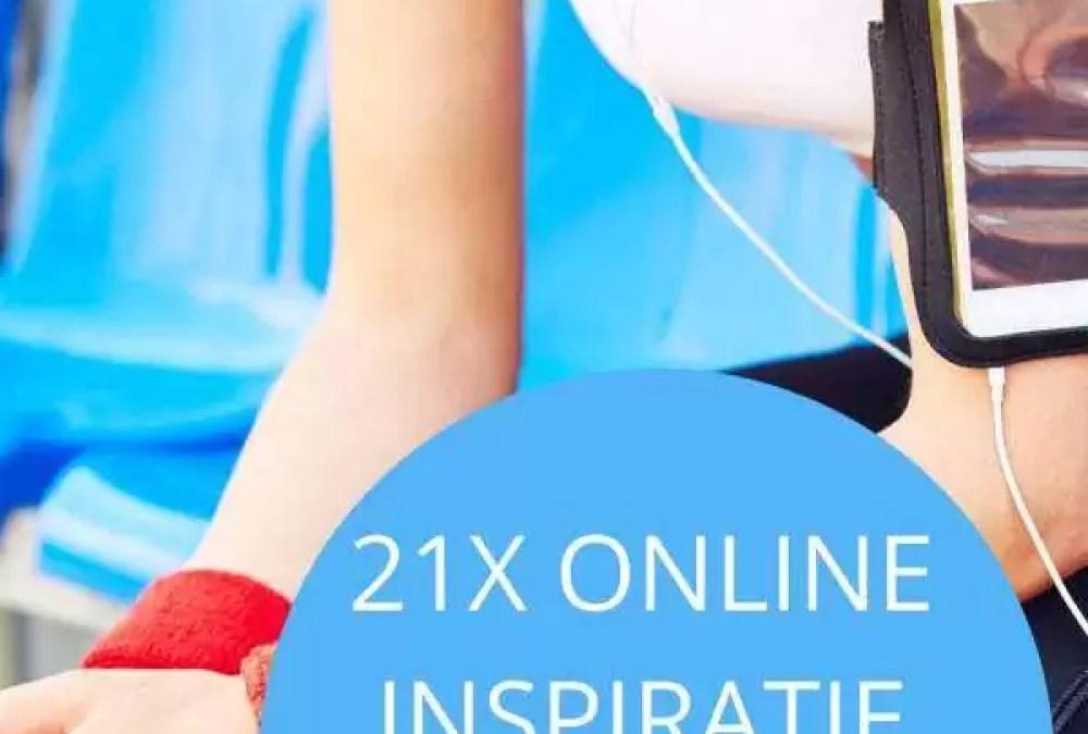 21x online inspiratie om te sporten