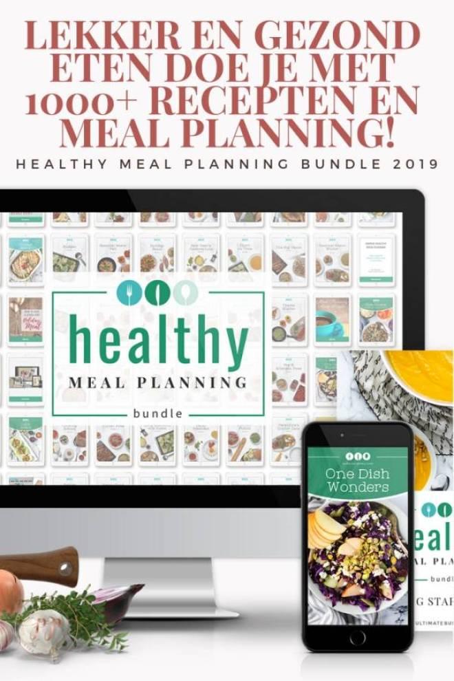 Lekker en gezond eten doe je met 1000 recepten en meal planning - Lekker en gezond eten doe je met 1000+ recepten en meal planning!