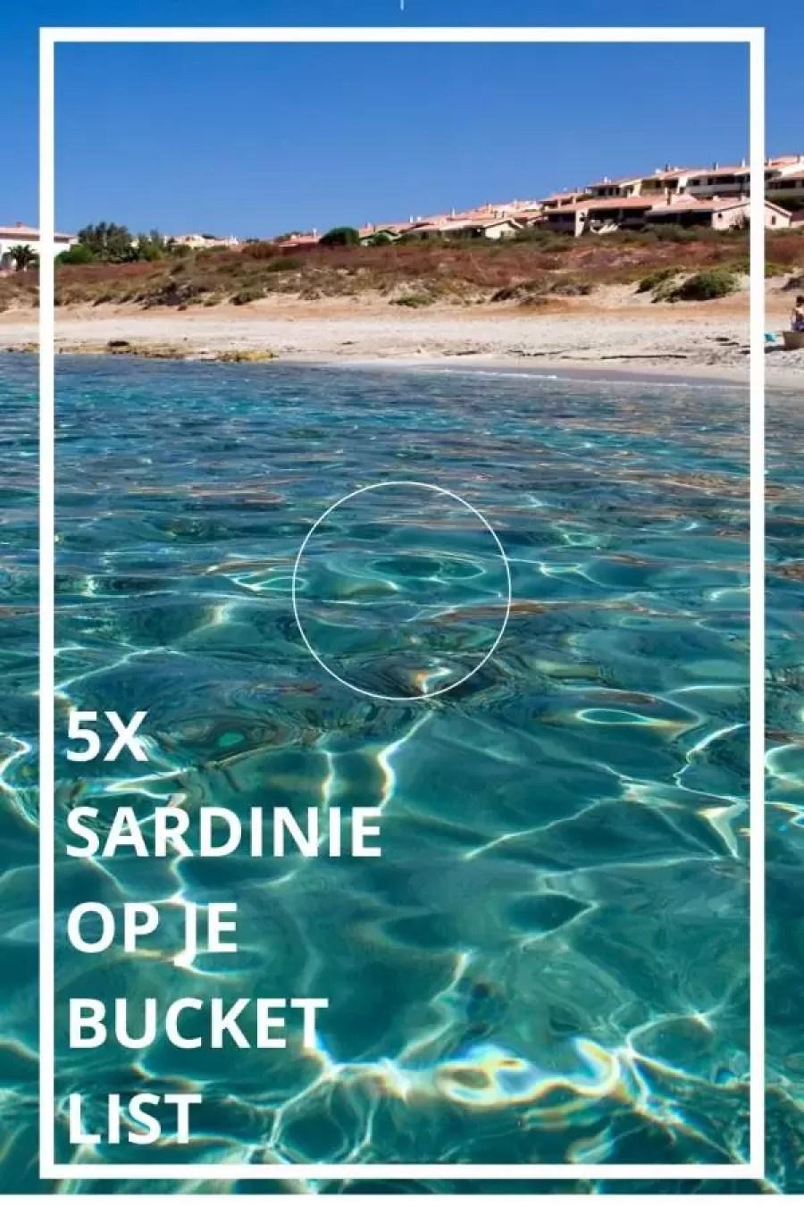 5x sardinie op je bucketlist