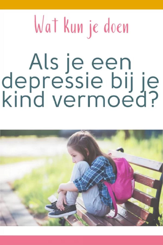 wat kun je doen als je een depressie bij je kind vermoed