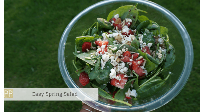 Quick-Easy-Spring-Salad-Strawberry-Spinach-Feta- Cheese-Almonds-Pink-Proverb