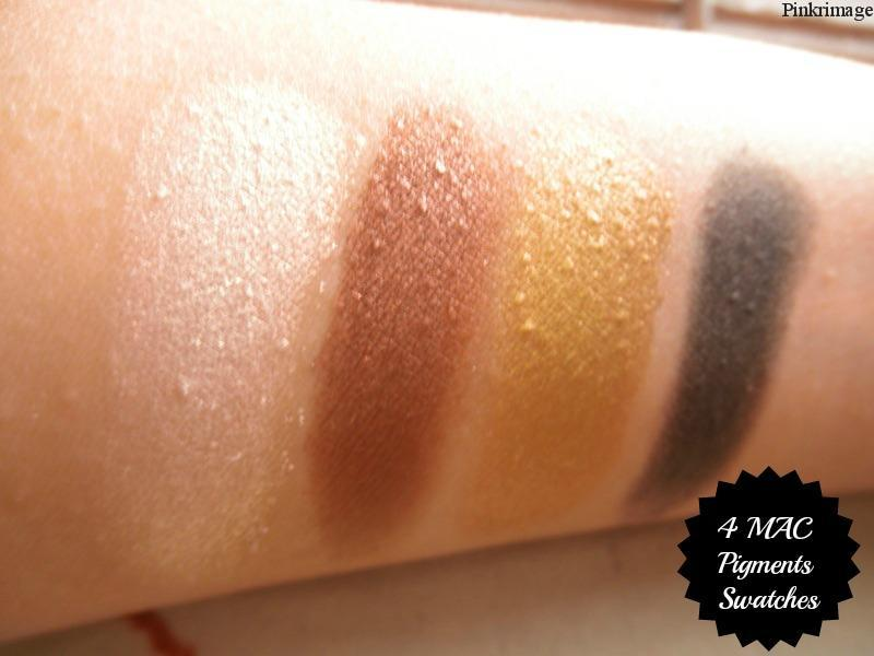 4 MAC pigments Swatches
