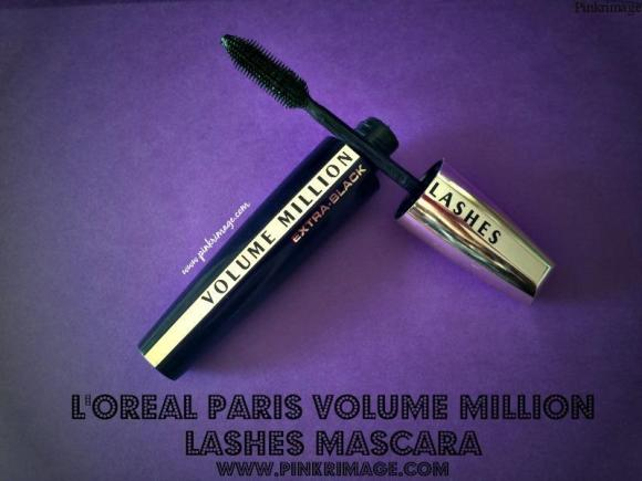 L'Oreal Volume Million Lashes Ultra Black Mascara-Review & Swatches