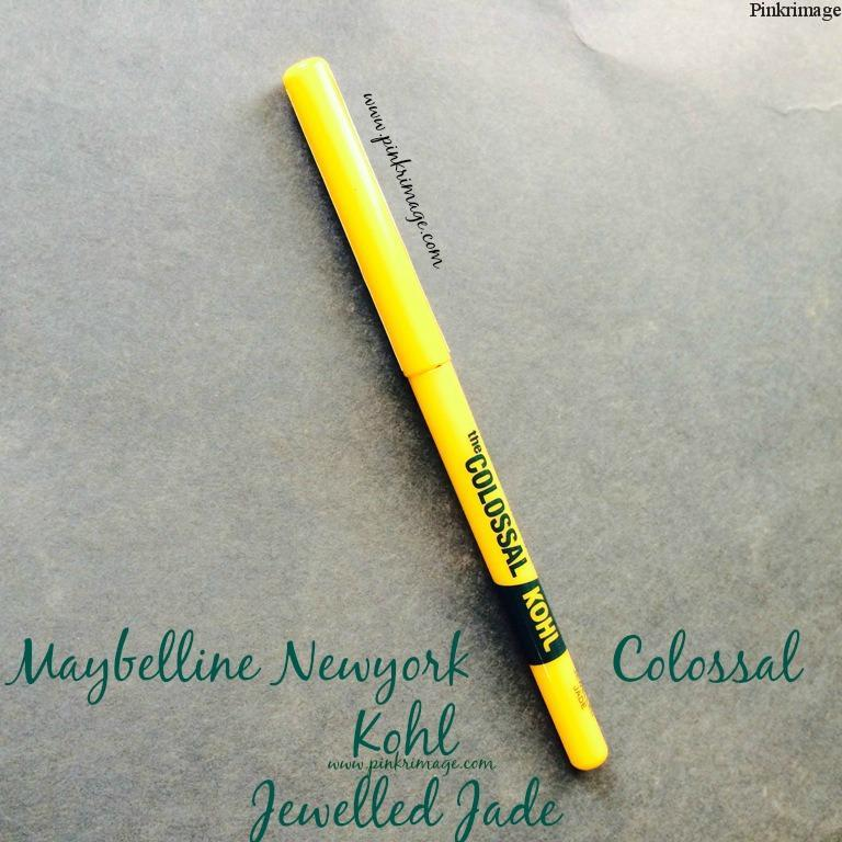 Maybelline Colossal Kajal Jewelled Jade: Review,Swatches & EOTD
