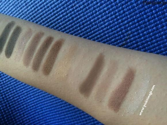 maybelline nudes eyeshadow pallette swatches