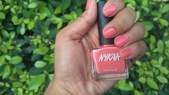 Nykaa Pastel Nail Enamel in Shade Pomegran-ita review india