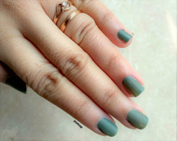 Nykaa matte nail polish in Matcha Tiramisu