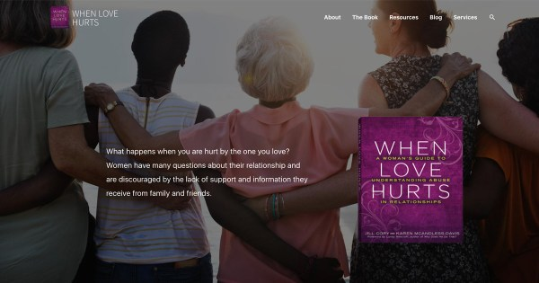 When Love Hurts website screenshot.