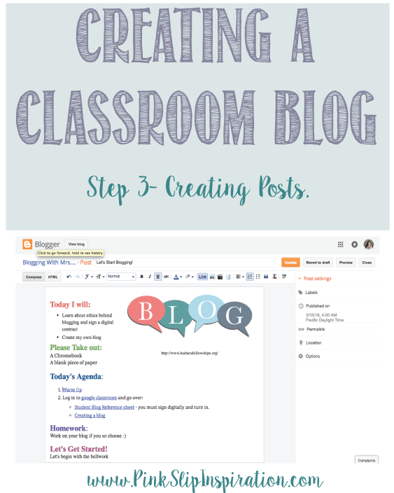 Creating a classroom blog- creating posts-01