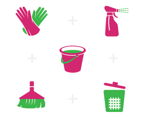 Janitorial Services include cleaning, disinfecting, mopping, sweeping, waste removal, and more.