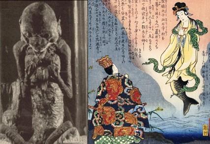 Fuji mermaid speaks to Shotoku Taishi