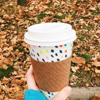 fall coffee in a cute cup