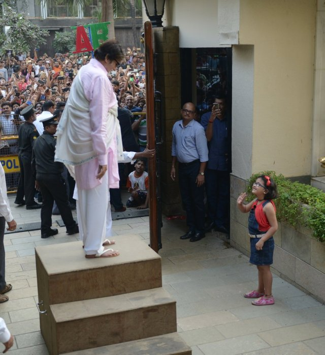 Image result for amitabh-bachchan-shares-pic-young-fan-who-braved-crowds-snuck-inside-his-house