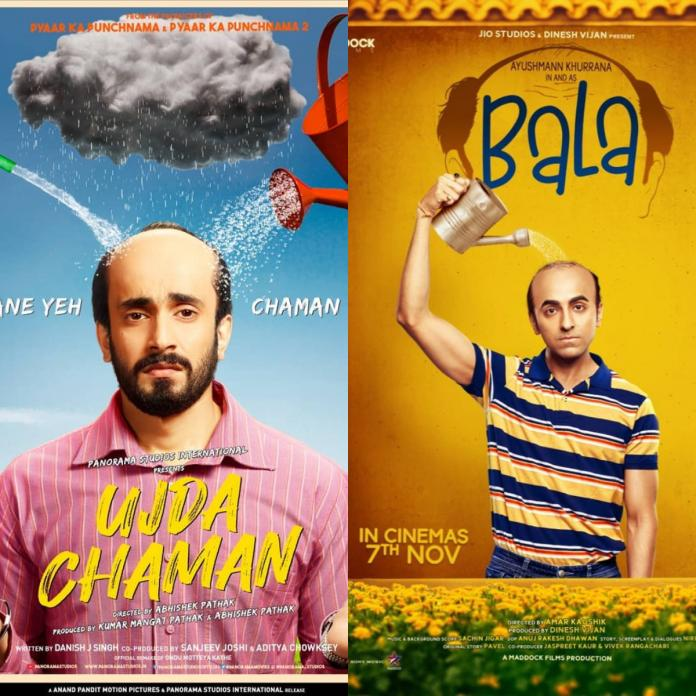 Image result for Ayushmann Khurrana starrer Bala to face copyright violation from the makers of Sunny Singh's Ujda Chaman