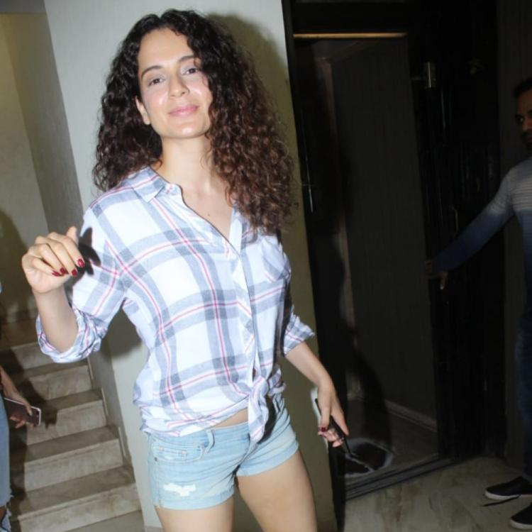 PHOTOS: Kangana Ranaut is all chirpy and happy as she arrives at a dubbing studio