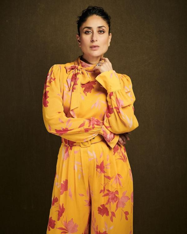 Kareena Kapoor Khan does fall fashion right by proving bright hues and crowded prints are here to stay