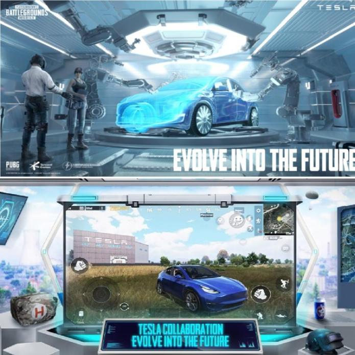 With PUBG Mobile v1.5 you can drive an autonomous Tesla; also puts the Gigafactory on the card