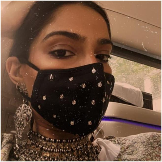 Sonam Kapoor dials up fashion quotient of her mask and proves even COVID 19 cannot stop her from being stylish