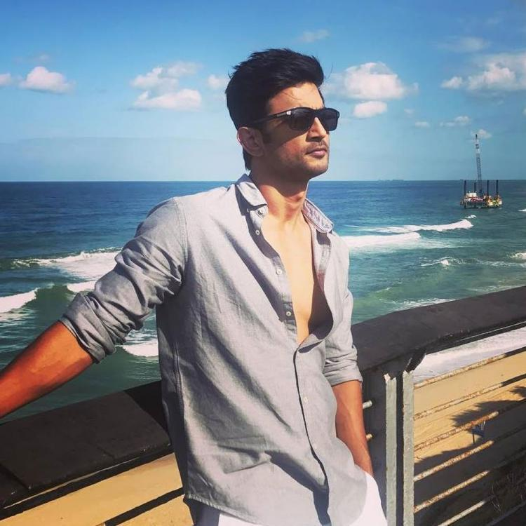 Late actor Sushant Singh Rajput by the sea.