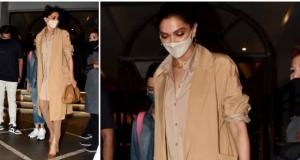 Deepika Padukone goes for a head to toe looking neutral with a Bottega Veneta pouch EXPENSIVE: Yay or Nay?