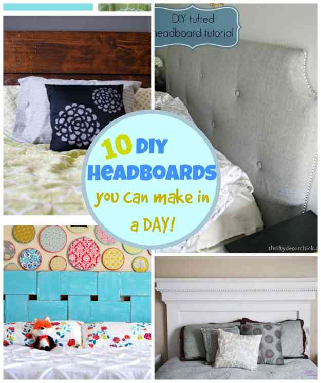 10 diy headboards you can make in a day! | pinkwhen