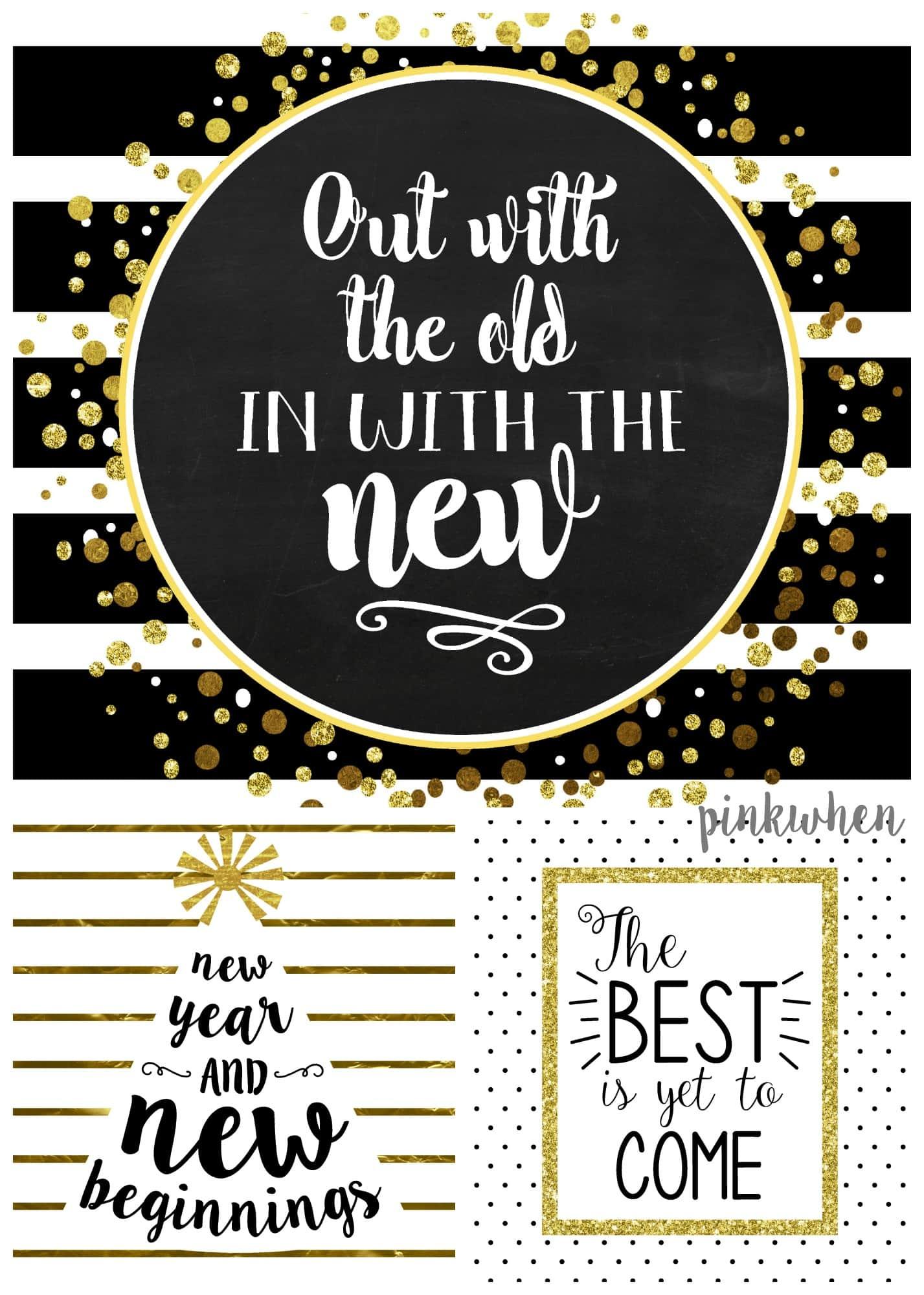 Free New Years Printables Pack
