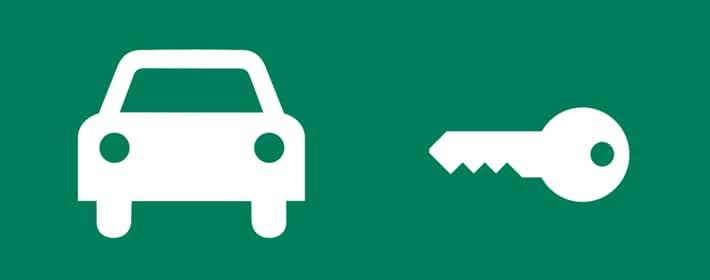 Car icon and key icon