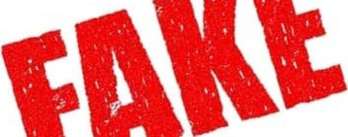 "Illustration of ""FAKE"" text"