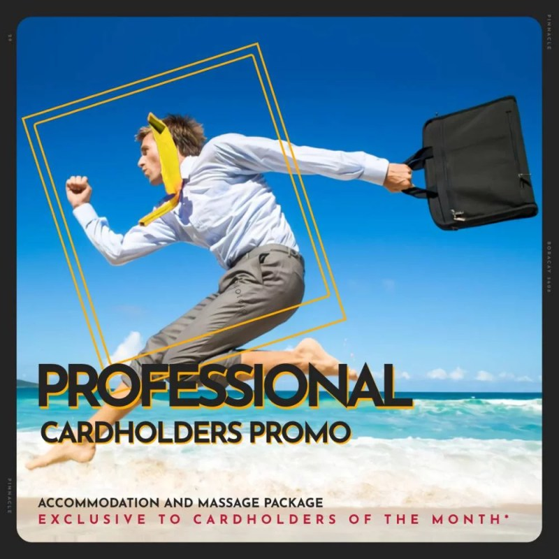 Professional Cardholders Promo offer