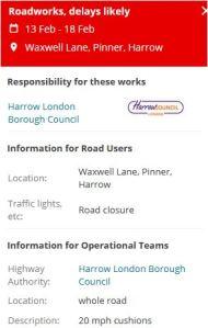 Waxwell Lane Notice