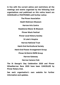 Cancelled or Postponed