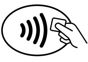 Si potrà usare la contactless card in tutti i netgozi che esporranno questo logo.
