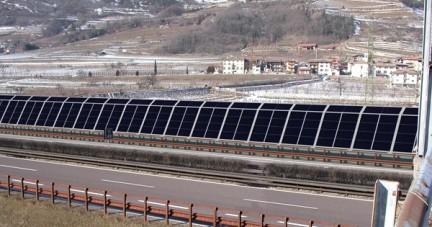 Pannelli antirumore fotovoltaici sull'Autostrada del Brennero