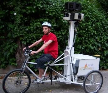 Il triciclo usato da Google View Street per le riprese tridimensionali