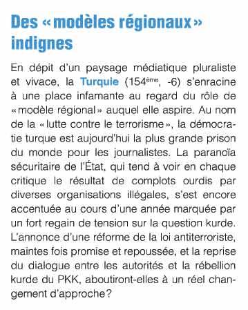 Reporters sans frontières, rapporto sulla libertà di stampa in Turchia