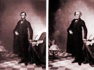 A proposito di manipolazioni apparentemente neutrali: 1860 circa: questo ritratto (quello a sinistra, sembra quasi una litografia) del presidente degli Stati Uniti Abramo Lincoln venne realizzato assemblando la testa di Lincoln con il corpo di John Calhoun, un uomo del sud degli Stati Uniti (foto a destra).