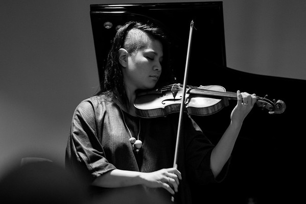 Yuki Numata Resnick performs during the Music Now Festival in Cincinnati, Ohio