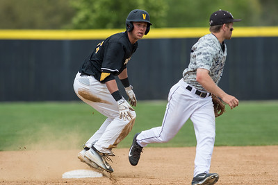 Josh Clark slides into second base during the baseball game between the Valparaiso Crusaders and the Purdue Boilermakers on May 12, 2015