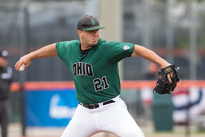 Logan Cozart pitches against Wright State on MMay 31, 2015 during the NCAA Regional game