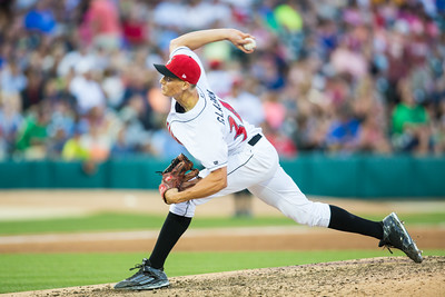 Tyler Glasnow pitches during the Indianapolis Indians game against the Charlotte Knights on August 1, 2015
