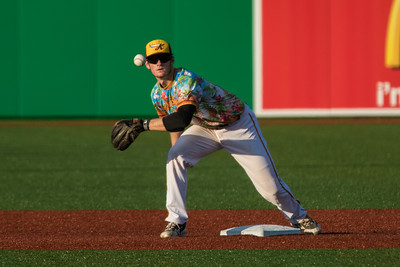 C.J. Price fields a throw for the Kokomo Jackrabbits