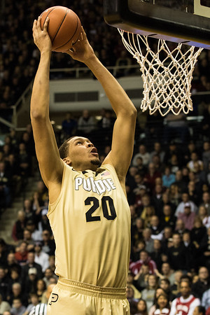 A.J. Hammons dunks during the first half against Indiana. Purdue won 83-67.