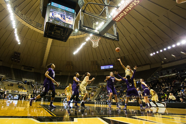 Ashley Morrissette makes a basket against Northwestern. Purdue lost to the Wildcasts in overtime