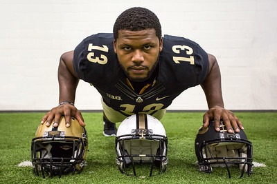 Gelen Robinson poses during the Purdue Football media day on August 9, 2015