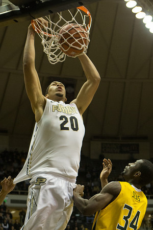 A.J. Hammons dunks for the Purdue Boilermakers vs. Siena Saints