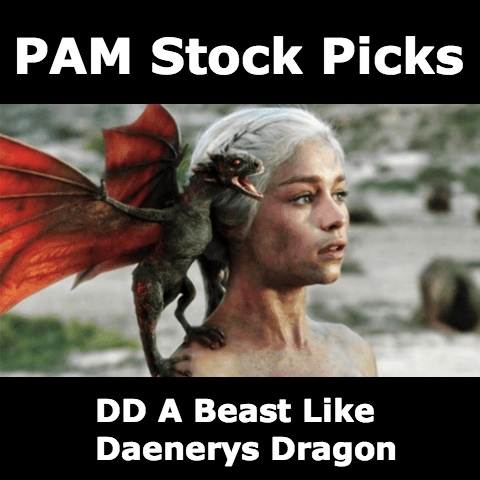 PAM Stock Picks - DD A Beast Like Daenerys Dragon