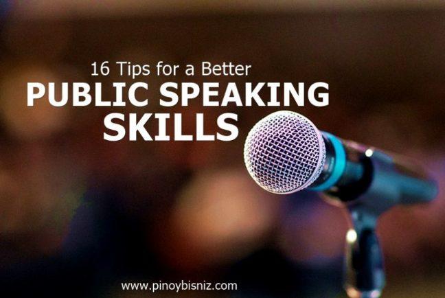 16 TIPS FOR A BETTER PUBLIC SPEAKING SKILLS - Pinoy BisNiz