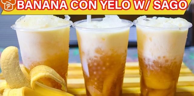 Banana Con Yelo with Sago Recipe