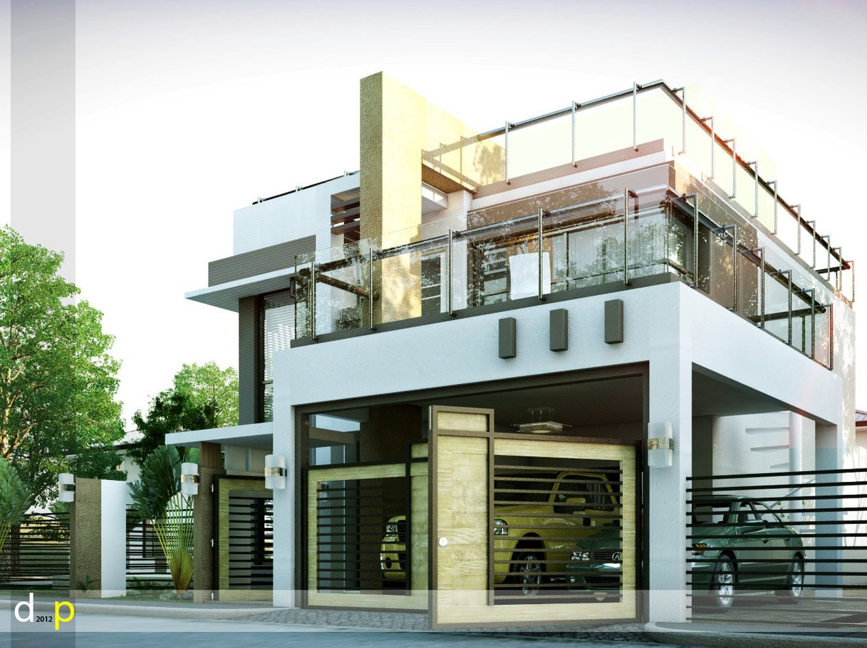 Modern house designs series mhd 2014010 pinoy eplans for Modern house plans with photos