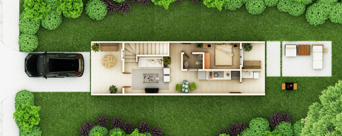 Townhouse Designs Thd 2012001 Pinoy Eplans